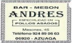 """BAR """"EL MESÓN DE ANDRÉS"""""""